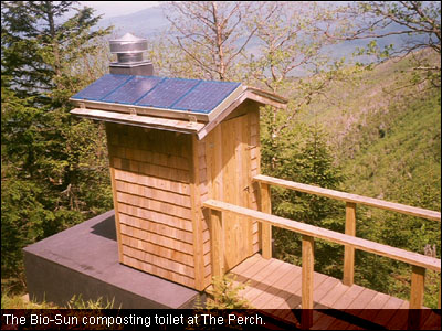 The Bio-Sun composting toilet at The Perch.