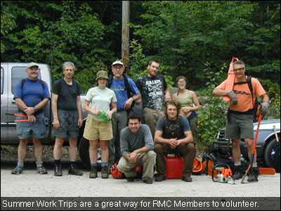 Summer Work Trips are a great way for RMC Members to volunteer.